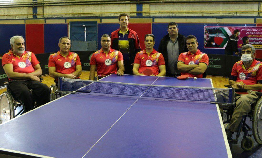 صدرنشینی ایریتک خوزستان در روز نخست رقابتهای کلاس نشسته پارا تنیس روی میز بزرگسالان باشگاههای کشور