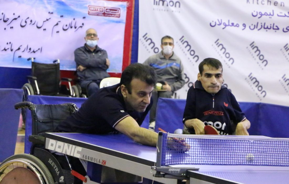 نتایج تیمها در پایان دور اول رقابتهای کلاسهای (۱ الی ۵ ) نشسته پارا تنیس روی میز ایران