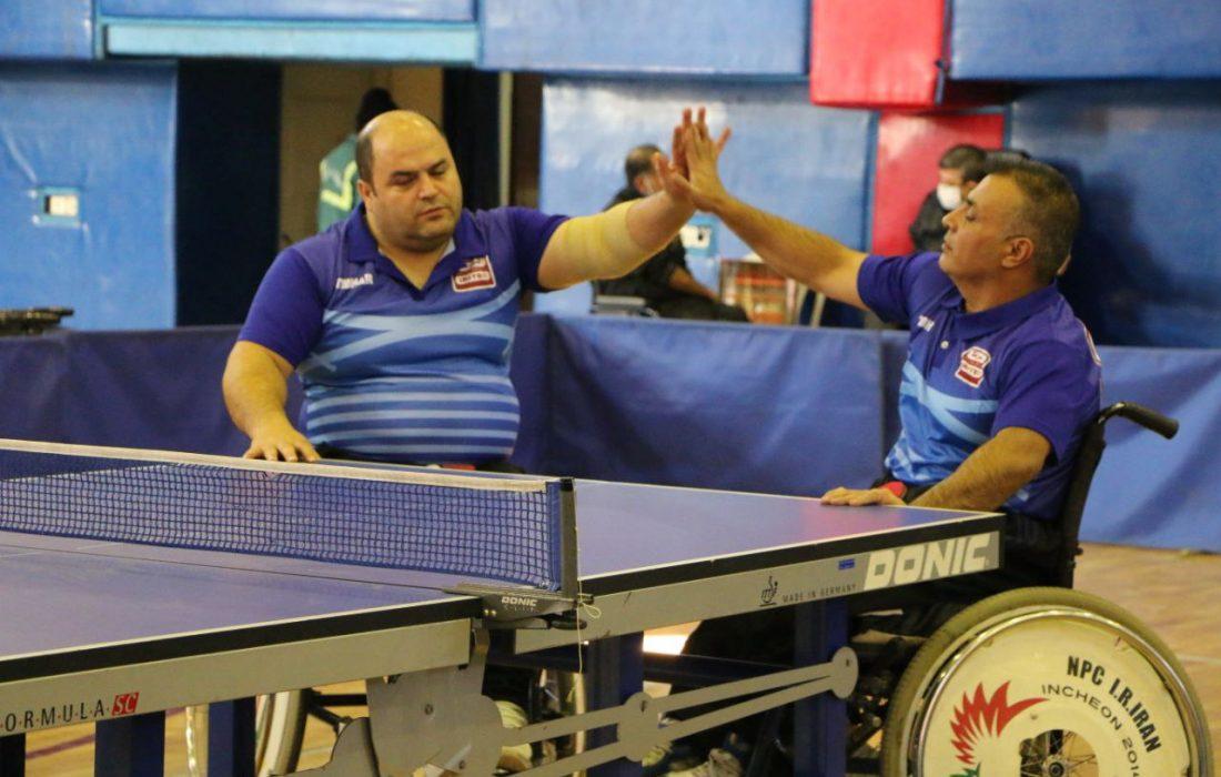 نتایج دور چهارم مسابقات پارا تنیس روی میز بزرگسالان باشگاههای کشور در بخش نشسته