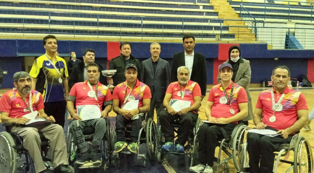 مراسم اهدای مدال مسابقات پارا تنیس روی میز کشور