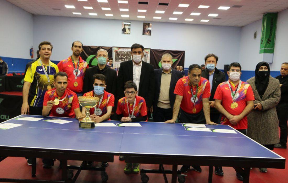 پرونده مسابقات لیگ پارا تنیس روی میز با معرفی تیمهای برتر کلاس ایستاده بسته شد