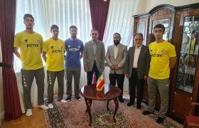 دیدار ملی پوشان تنیس روی میز با سفیر ایران در کرواسی