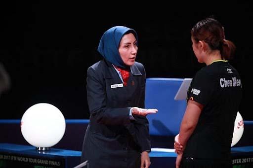 قضاوت داور المپیکی تنیس روی میز ایران برای کشور میزبان