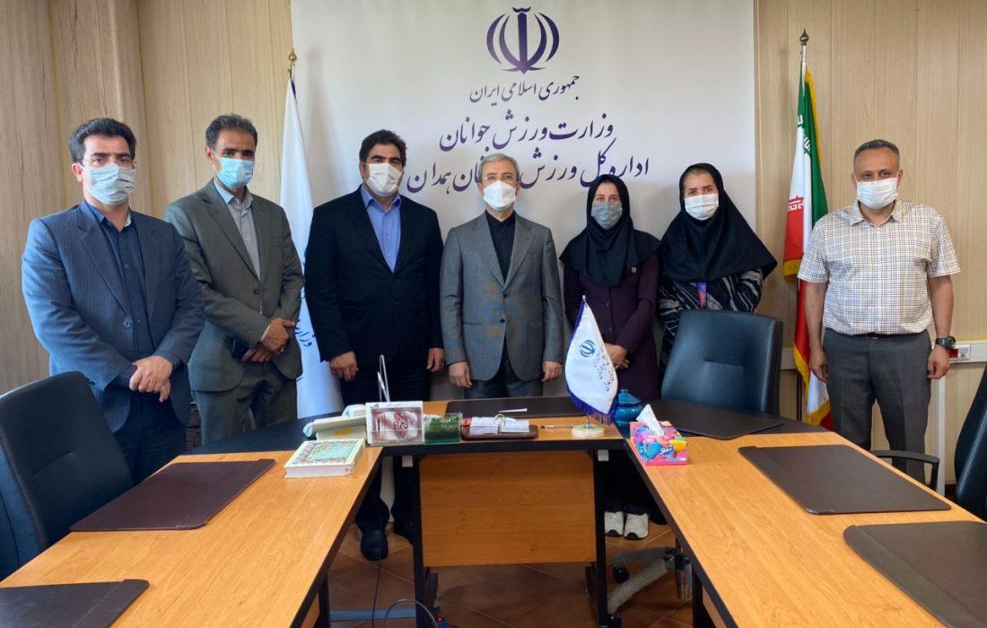 همزمان با هفته تربیت بدنی ؛ مهرداد علی قارداشی با مدیر کل ورزش و جوانان همدان دیدار کرد.